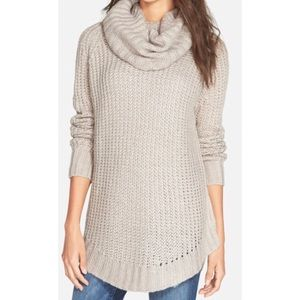 Dreamers By Debut Sweaters Mocha Cowl Neck Sweater 5442 Poshmark